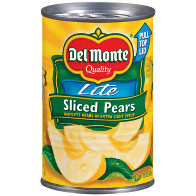 Del Monte Lite Sliced Pears 15-oz.