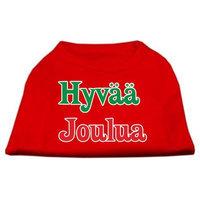Mirage Pet Products 512507 XXLRD Hyvaa Joulua Screen Print Shirt Red XXL 18