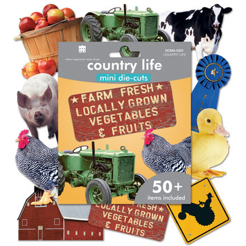 Paper House Productions, Inc Paper House Mini Die Cuts 50+/Pkg Country Life