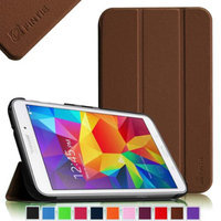 Fintie Smart Shell Case Ultra Slim Lightweight Stand Cover for Samsung Galaxy Tab 4 8.0 inch Tablet, Brown