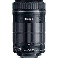 Canon EF-S55-250mm F4-5.6 IS STM Lens for Canon DSLR Camera - Black