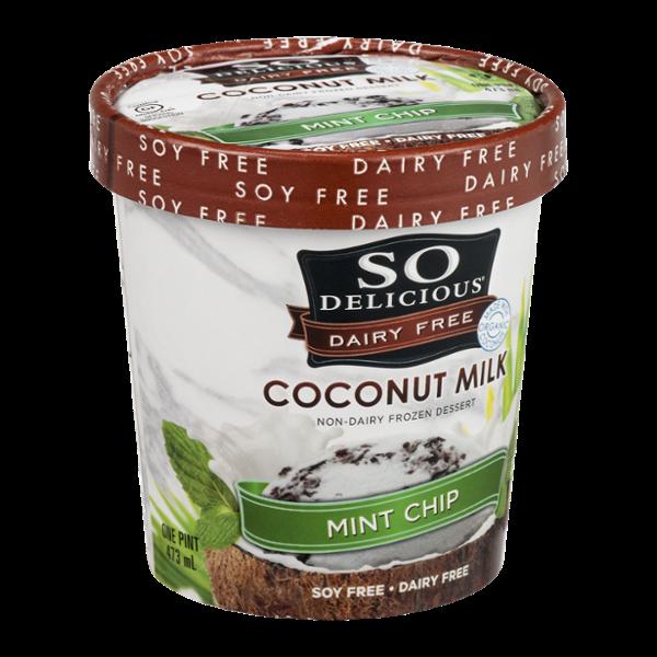So Delicious Dairy Free Coconut Milk Frozen Dessert Mint Chip