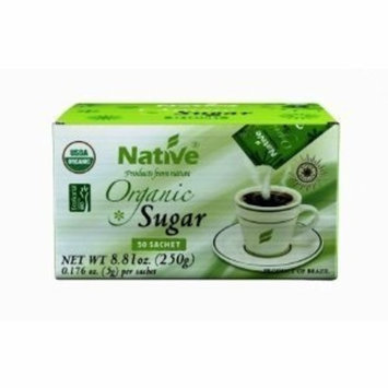 Native Organic White Crystal Sugar Packet 50-count (Pack of 18)