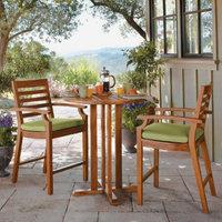 Smith & Hawken Brooks Island 3-Piece Patio Bistro Furniture Set -