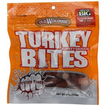 Old Wisconsin Wisconsin Turkey Snack Bites, 4-Ounce Packages (Pack of 12)