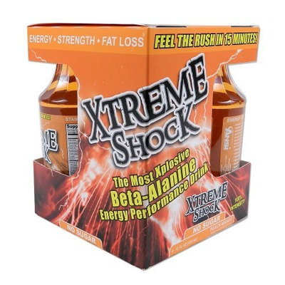 Nutrient Science Xtreme Shock, Peach Mango, 12-Ounce (Pack of 4)