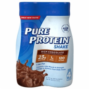 Pure Protein Ready to Drink 23g Protein Shake, Rich Chocolate, 4 ea
