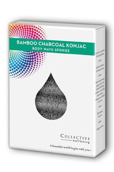 Konjac Wave Body Sponge, Bamboo Charcoal Collective Wellbeing 1 Sponge