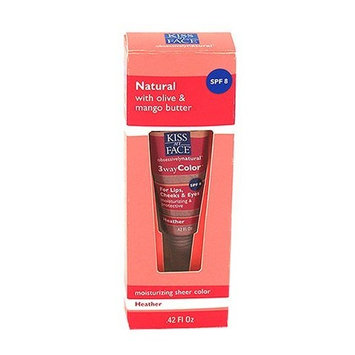 Kiss My Face 3wayColor Moisturizing Lip Color, Heather, .42-Ounce Tubes (Pack of 3)