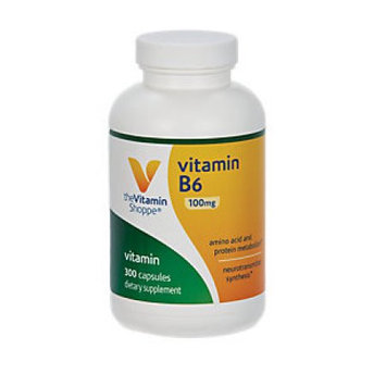 Vitamin Shoppe B-6 100 MG - 300 Capsules - Vitamin B-6
