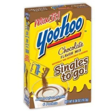 Yoo Hoo Yoo-hoo Chocolate Flavor Mix Singles to Go! [1 Box, 6 Packets]