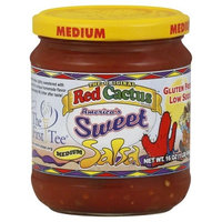 Red Cactus Salsa, America's Sweet, Medium 16 oz (Pack of 12)
