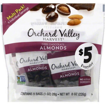 Orchard Valley Harvest Dark Chocolate Almonds, 8 oz, (Pack of 12)