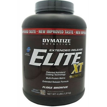 Dymatize Nutrition Elite 12-Hour Protein Powder, Fudge Brownie, 4 Pound
