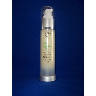 True Radiance GOLDEN SERUM 50ml/1.7oz. Skin tightening, firming and sagging prevention. Also has 20% Argireline, DMAE, APT (Red marine Algae), Pepha tight, Hyaluronic acid, Vitamin A (retin-a), Vitamin C, and Syncoll (Peptides) plus much more.