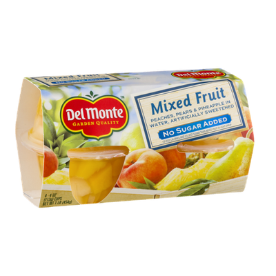 Del Monte Mixed Fruit No Sugar Added - 4 CT