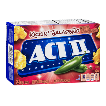 Act II Kickin' Jalapeno Microwave Popcorn - 3 CT