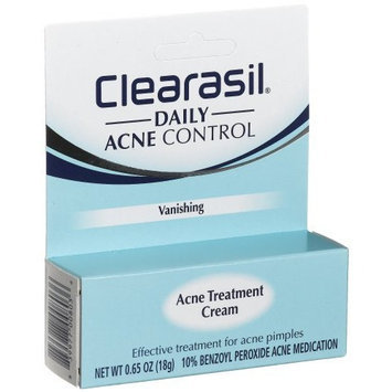 Clearasil Maximum Strength Acne Treatment Cream, Vanishing - .65 oz