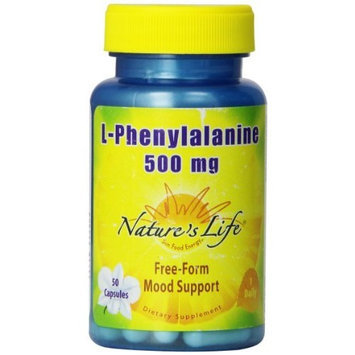 Nature's Life L-Phenylalanine Capsules, 500 Mg, 50 Count
