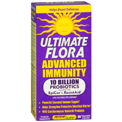 ReNew Life Ultimate Flora Advanced Immunity Probiotic Dietary Supplement Capsules