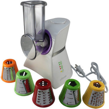Cooks Club USA VC02SWHPU Salad Maker Mini Food Processor and Produce Shooter White and Purple