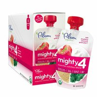 Plum Organics Tots Mighty 4 Essential Nutrition Blend Kale Strawberry Amaranth Greek Yogurt