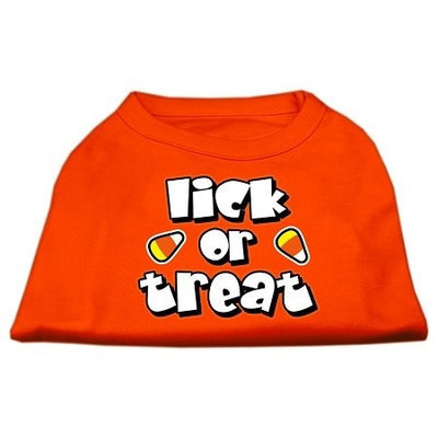 Mirage Pet Products 51-13-01 MDOR Lick or Treat Screen Print Shirts Orange Med - 12