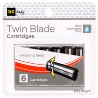 DG Body Men's Twin-Blade Razor Replacement Cartridges - 6 ct