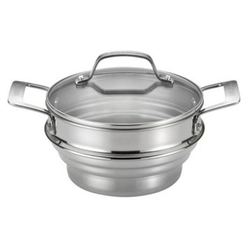 Circulon Genesis Universal Stainless Steel Steamer with Lid - Silver