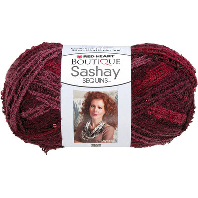 Coats & Clark Inc. Red Heart Boutique Sashay Sequins Yarn Cabernet