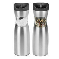Kalorik Gravity Salt and Pepper Grinder Set, Stainless Steel, 1 ea