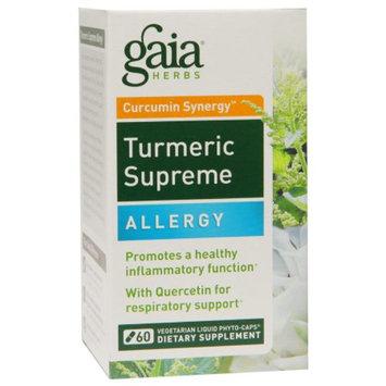 Gaia Herbs Curcumin Synergy Turmeric Supreme, Allergy, Capsules