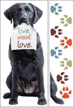 Paper House Productions, Inc Sticky Pix Removable & Repositionable Ultimate Wall Sticker Mini Mural Appliques - Black Lab