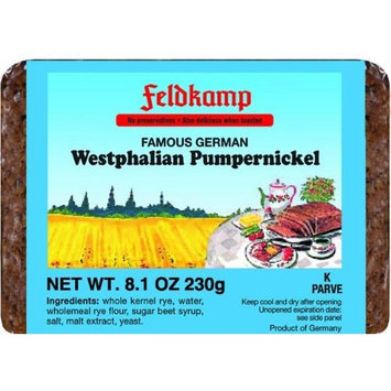 Feldkamp Dark Pumpernickel Bread , 8.1-Ounce Vacuum Packs (Pack of 11)