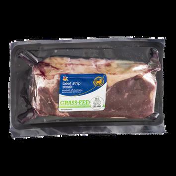 Ahold Beef Strip Steak Grass-Fed