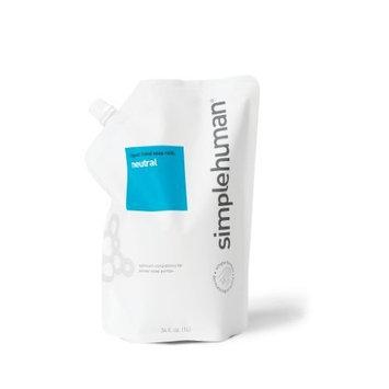 simplehuman Liquid Hand Soap, Neutral, Refill Pouch, 34 Fluid Ounce