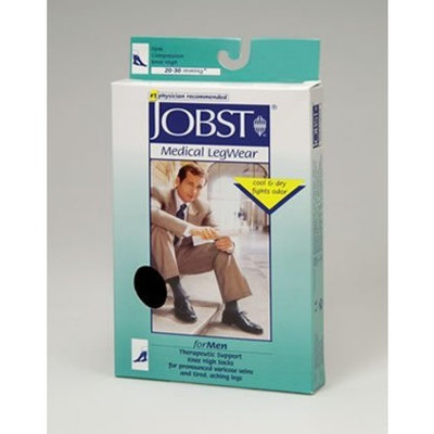 Jobst Mens 20-30 mmHg Closed Toe Knee High Support Sock Size: Medium, Color: Navy