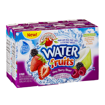 Apple & Eve Water Fruits Naturally Flavored Water Beverage Very Berry Blast - 8 CT