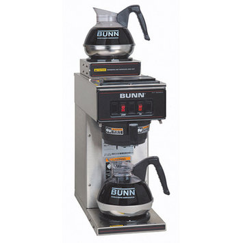 Bunn VP17-2 12-Cup Pourover Commercial Coffee Brewer w/2 Warmers