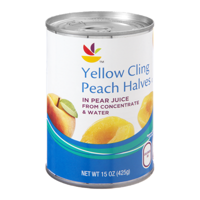 Ahold Yellow Cling Peach Halves in Pear Juice