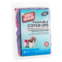 Bramton Simple Solution Washable Diaper Cover Ups, Medium, Pink/Purple or Blue/Black [12 Pack - Pink Purple]