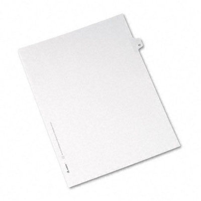 Avery Allstate-Style Legal Side Tab Divider, Title: 45, Letter, White, 25/Pack
