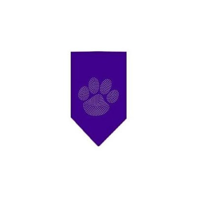 Ahi Paw Clear Rhinestone Bandana Purple Small