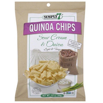 Simply 7 Sour Cream & Onion Quinoa Chips, 3.5 oz, (Pack of 12)