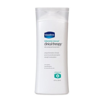 Vaseline Intensive Rescue Clinical Therapy Body Lotion, Unfragranced, 6.8-Ounce Bottle (Pack of 3)