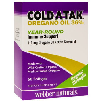 Cold Atak Oregano Oil 36% Year-Round Immune Support, Softgels