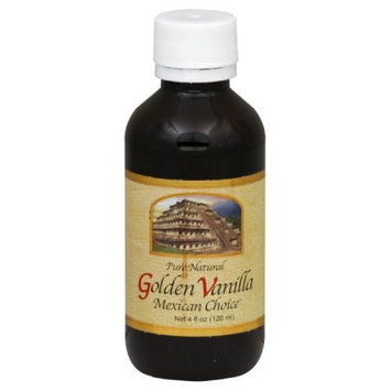 Golden Pure Natural Vanilla Extract, 4-Ounce (Pack of 6)