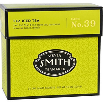 Smith Teamaker Iced Tea - Big Hibiscus - 10 Bags, (Pack of 6)