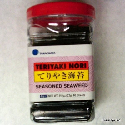 Takaokaya - Teriyaki Nori - Seasoned Seaweed (80 Sheets)