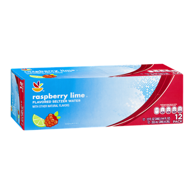 Ahold Raspberry Lime Seltzer Water - 12 CT